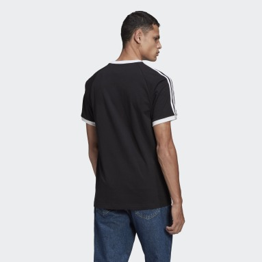 Men Originals Black Adicolor Classics 3-Stripes Tee