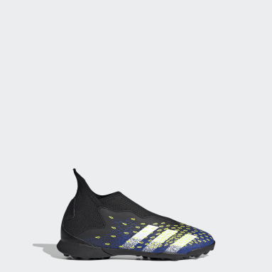 Chaussure Predator Freak.3 Laceless Terrain turf Noir Enfants Football