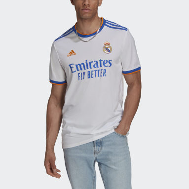 Men Football White Real Madrid 21/22 Home Jersey
