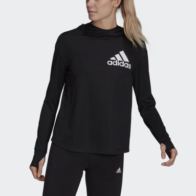 Women's Essentials Black AEROREADY Lightweight Long Sleeve Hooded Tee