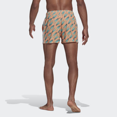 Short de bain Graphic Orange Hommes Natation