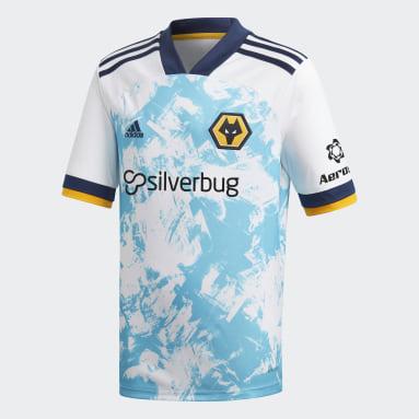 Børn Fodbold Hvid Wolverhampton Wanderers 20/21 udebanetrøje
