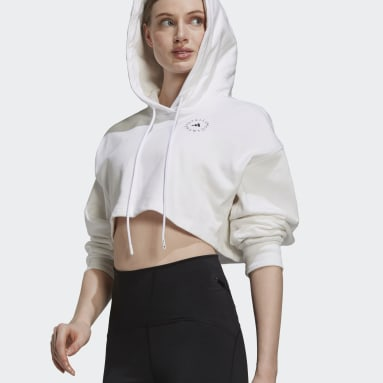 Sudadera adidas by Stella McCartney FuturePlayground Cropped Blanco Mujer adidas by Stella McCartney