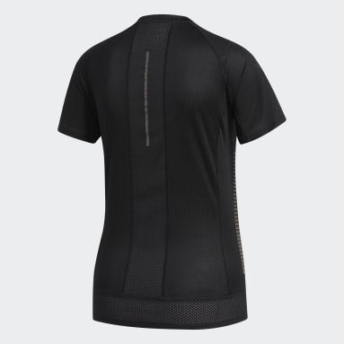 Polera 25/7 Rise Up N Run Parley Negro Mujer Running