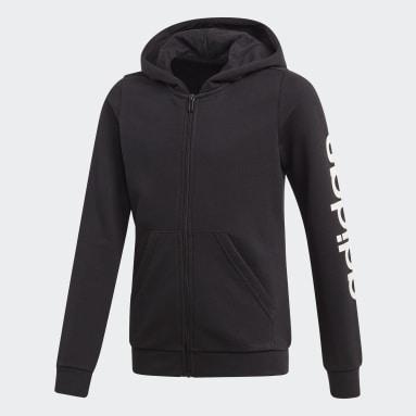 Polerón con Capucha Linear Negro Niño Sportswear