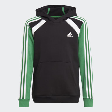 Boys Training Black Comfort Colorblock Hoodie