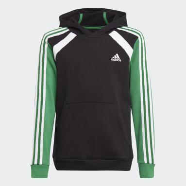 Boys Fitness Og Træning Sort Comfort Colourblock hættetrøje