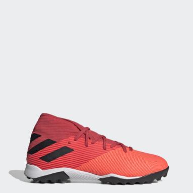 Men Football Orange Nemeziz 19.3 Turf Boots