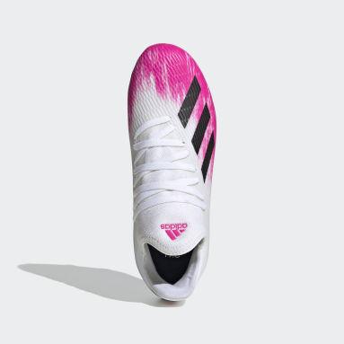Zapatos de Fútbol X 19.3 Terreno Firme Blanco Niño Fútbol