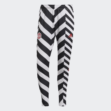 Men Football White Manchester United Graphic Tracksuit Bottoms