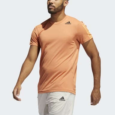 Men's Training Orange HEAT.RDY 3-Stripes Tee