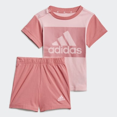 Completo Essentials Tee and Shorts Rosa Bambini Sportswear