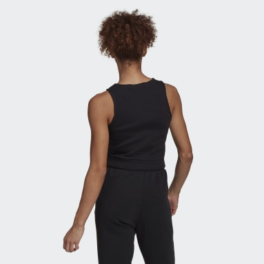 Women Sportswear Black adidas Sportswear Fitted Fit Ribbed Tank Top