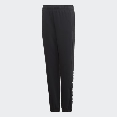 Boys Sportswear Black Essentials Linear Joggers