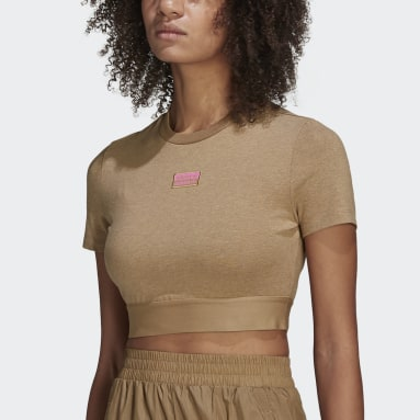 T-shirt R.Y.V. Cropped Beige Femmes Originals