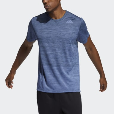 Men Gym & Training Blue Tech Gradient T-Shirt