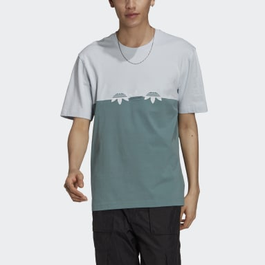 Männer Originals Adicolor Sliced Multi-Trefoil T-Shirt Grün
