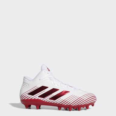 Youth Football White Freak Ghost Cleats