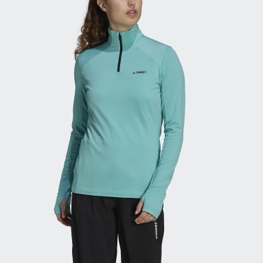 Women's TERREX Green Terrex Everyhike Half-Zip Fleece Jacket