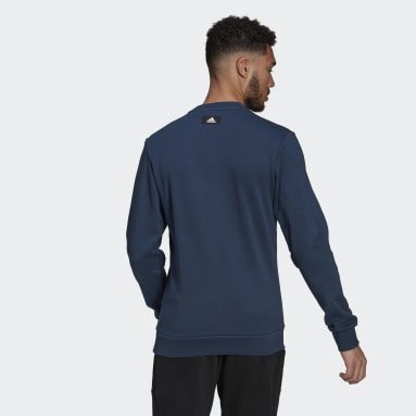 Men Sportswear Blue adidas Sportswear Graphic Crew Sweatshirt