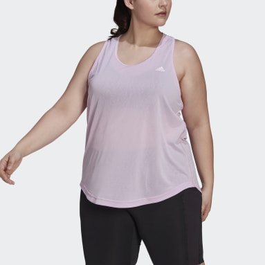 Women's Training Purple adidas Designed 2 Move AEROREADY Dance Tank Top (Plus Size)