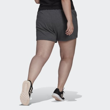 Women's Essentials Grey Essentials Slim Logo Shorts (Plus Size)