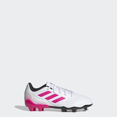Børn Fodbold Hvid Copa Sense.3 Firm Ground støvler