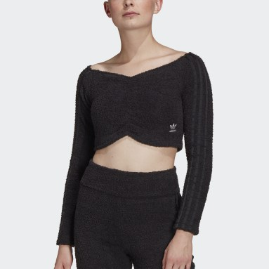 Crop Top noir Femmes Originals