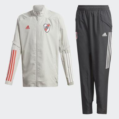 Conjunto de Presentación River Plate Gris Niño Fútbol