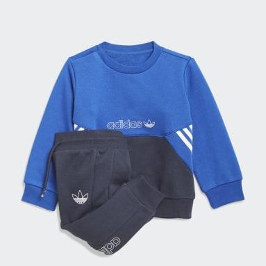 Tuta adidas SPRT Collection Crew Blu Bambini Originals