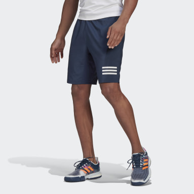 Short Club Tennis 3-Stripes Bleu Hommes Tennis