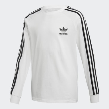 Youth Originals White 3-Stripes Tee