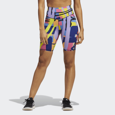 Fitness En Training Oranje adidas Love Unites Graphic Fietsshort