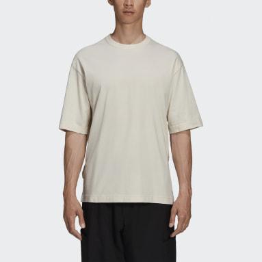 Men Y-3 Beige Y-3 CH3 Raw Jersey Graphic Short Sleeve Floral T-Shirt