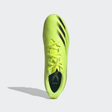Men Football Yellow X Ghosted.4 Flexible Ground Boots