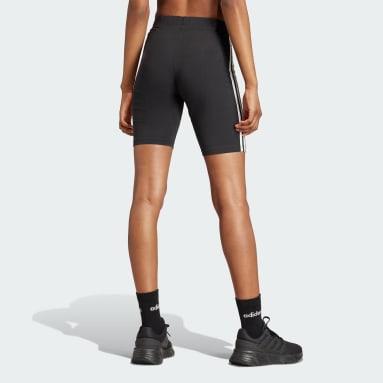 ผู้หญิง Sport Inspired สีดำ กางเกงปั่นจักรยานขาสั้น Essentials 3-Stripes