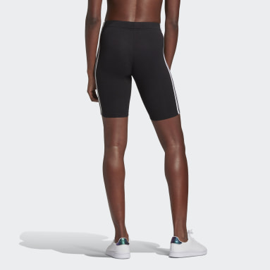 Women Sport Inspired Black Essentials 3-Stripes Bike Shorts