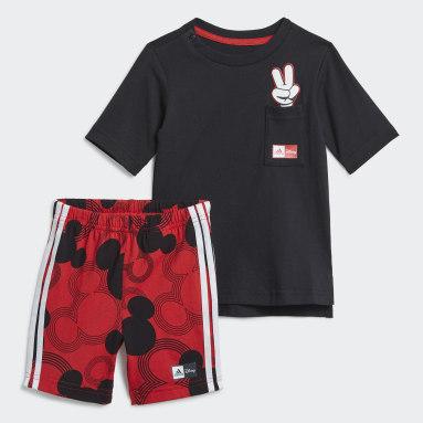 Conjunto de Verão Mickey Mouse Disney Preto Rapazes Ginásio E Treino