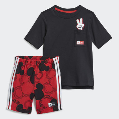 Jungen Fitness & Training Disney Mickey Mouse Sommer-Set Schwarz