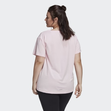 Women's Essentials Pink adidas x Zoe Saldana AEROREADY Tee (Plus Size)