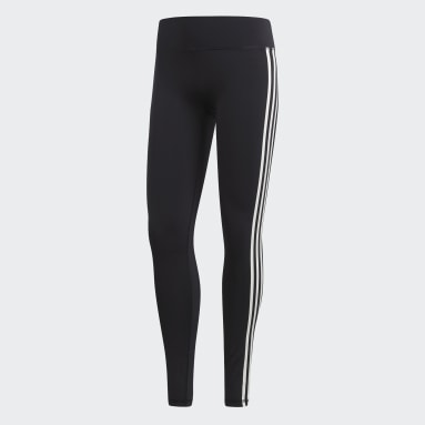 Women Yoga Black Believe This 3-Stripes Tights
