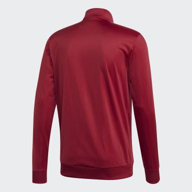 Männer Fitness & Training Essentials 3-Streifen Tricot Trainingsjacke Weinrot