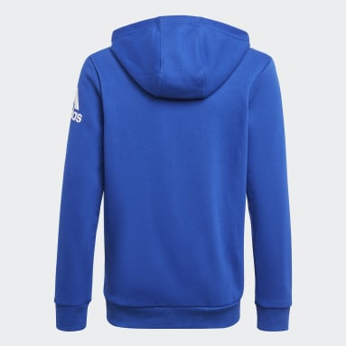 Boys Training Blue Logo Full-Zip Hoodie