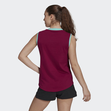 Women TERREX Burgundy Terrex Graphic Tank Top