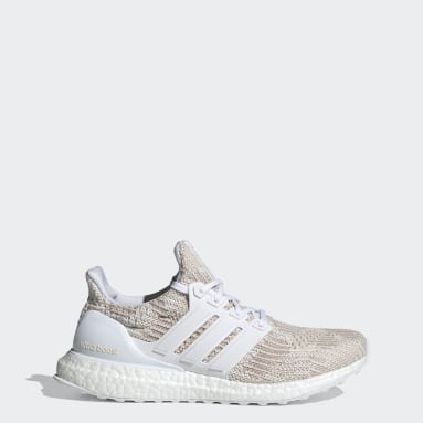 Women Running White Ultraboost 4 DNA Shoes