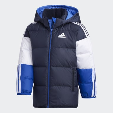 Kids 4-8 Years Gym & Training Blue Down Jacket