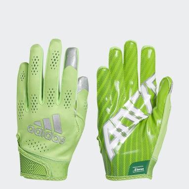 Men's Football Green Adizero 11 Turbo Gloves