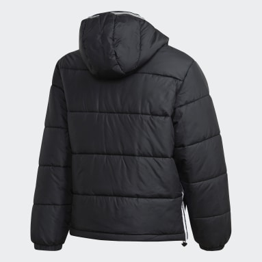 Men Originals Black Padded Hooded Puffer Jacket