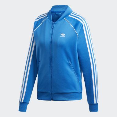 Track jacket SST Blu Donna Originals
