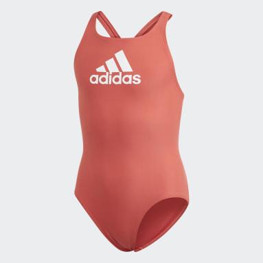 Dívky Plavání červená Plavky Badge of Sport